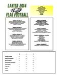 2014 Lanier Football Schedule - Week 1 Results