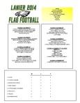 2014 Lanier Football Schedule - Week 2 Results