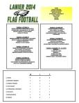 2014 Lanier Football Schedule - Week 4 Results