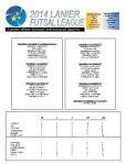 2014 Lanier Futsal Schedule - Week 2 Results