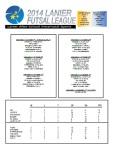 2014 Lanier Futsal Schedule - Week 4 Results