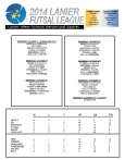 2014 Lanier Futsal Schedule - Week 5 Results