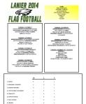 2014 Lanier Football Schedule - Week 6 Results