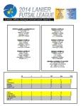 2014 Lanier Futsal Schedule - Week 6 Results